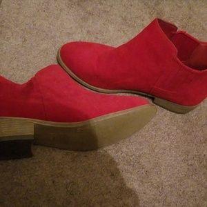 Cute Red Booties